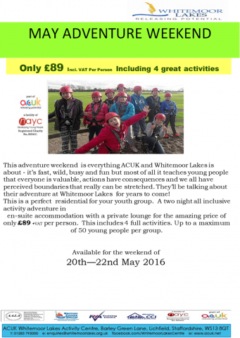 Whitemoor lakes adventure weekend