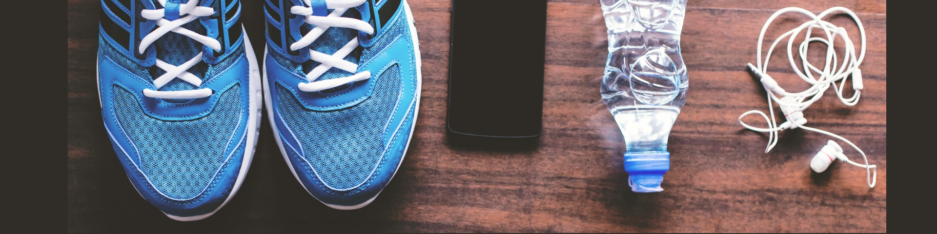 Trainers and water bottle