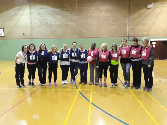 Walking netball team