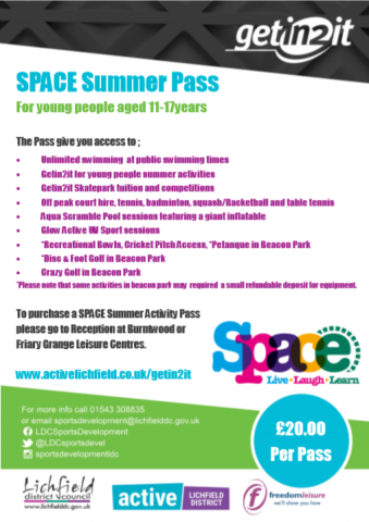 Space summer pass
