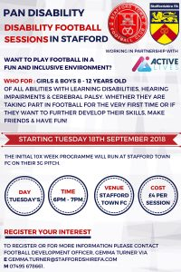 Stafford Disability Football Sessions
