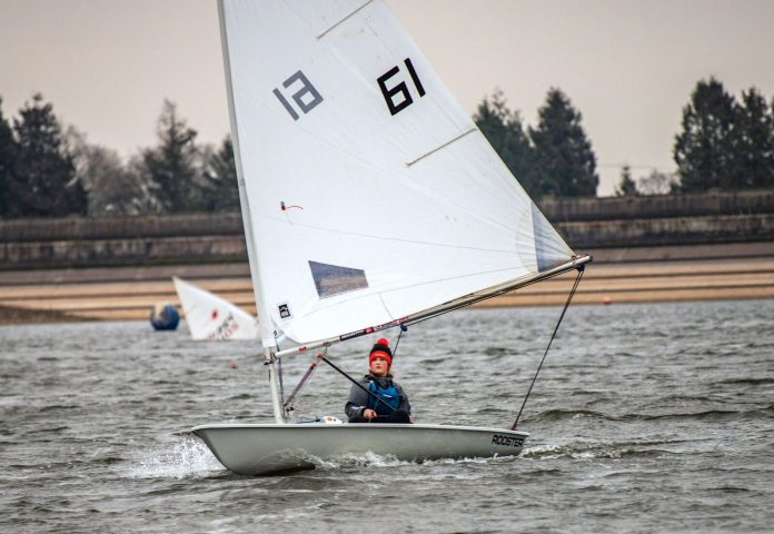 Lydia Barber putting her Laser Radial dinghy through its paces.