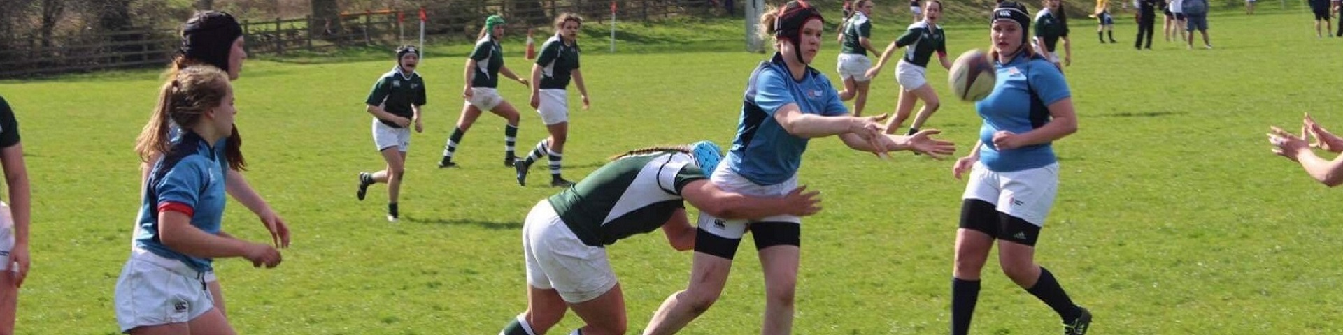 Lorna playing rugby