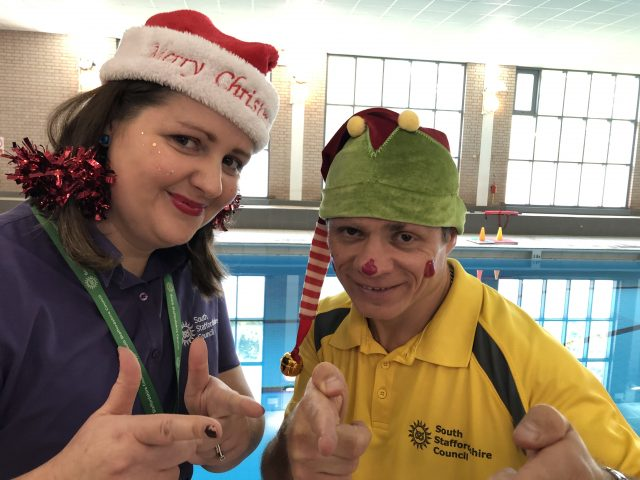 Laura and Carl at Codsall Leisure Centre.