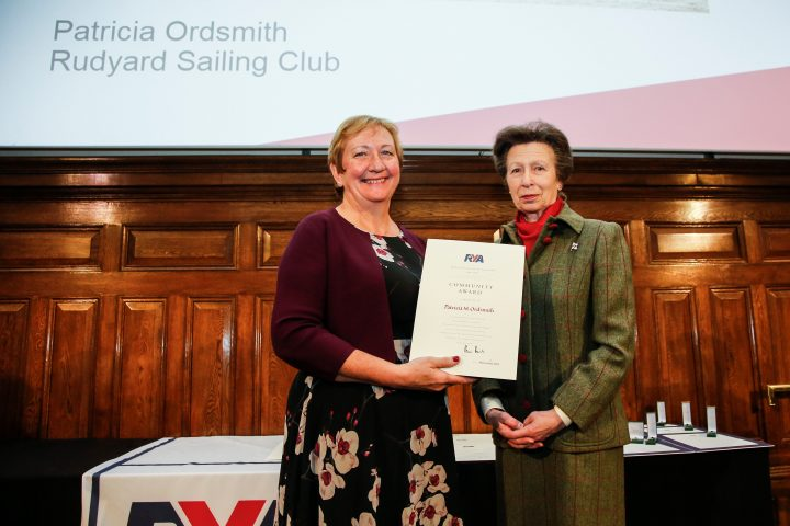 Tricia Ordsmith presented with an RYA Lifetime Commitment Award
