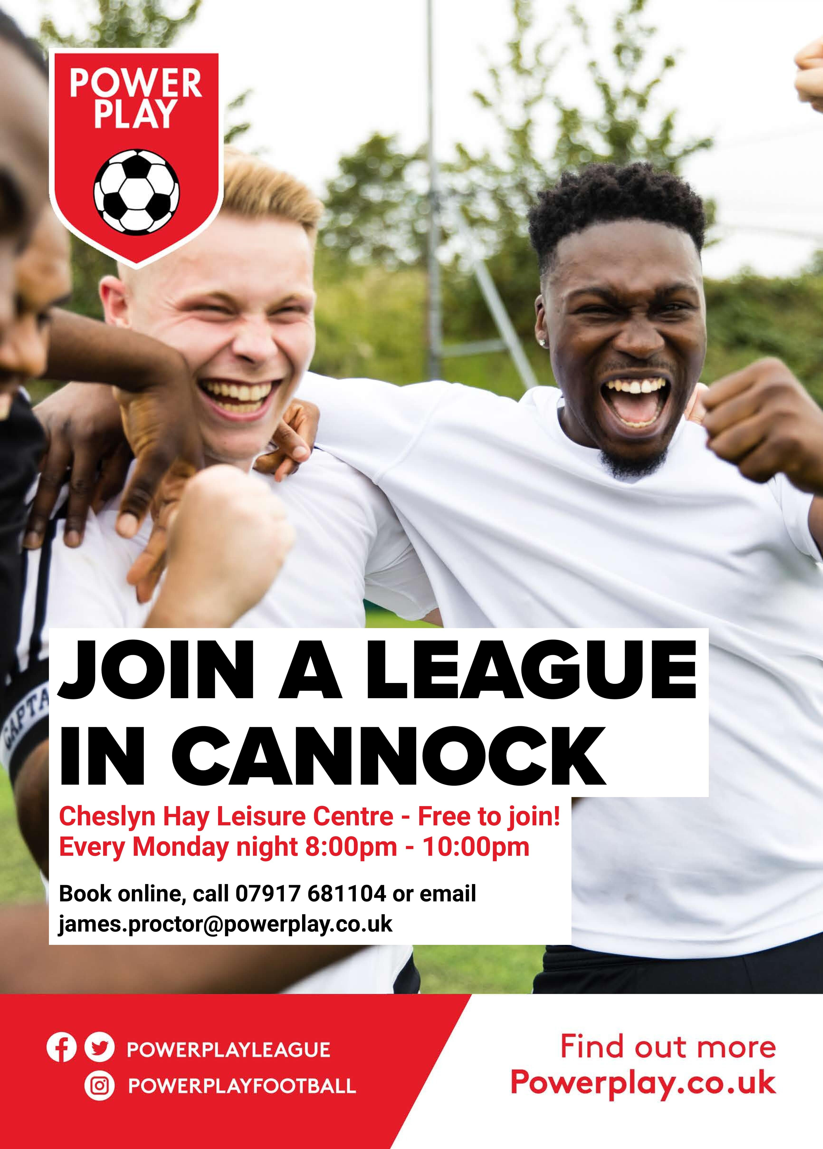 Join a league in Cannock